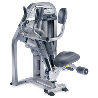 nautilus abdominal crunch machine